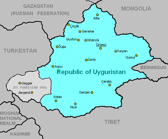 K2 Mountain Map Uyguristan - IBW...
