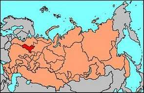 Location of the Vozgian Republic in the Russian Federation