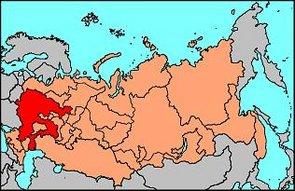 Location of Muscovy in the Russian Federation