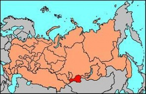 Location of Tannu-Tuva in the Russian Federation