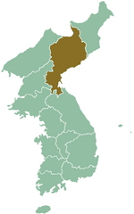 Map of Corea showing South Hamgieñ