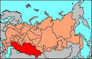 Location of Qazaqstan (Russia) in the Russian Federation