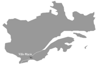 Location of VILLE-MARIE