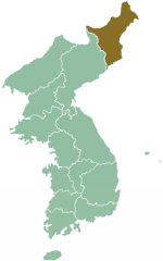 Map of Corea showing North Hamgieñ