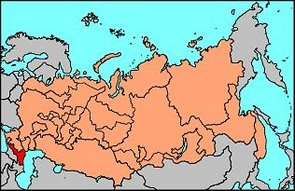 Location of the North Caucasian Federation in the Russian Federation