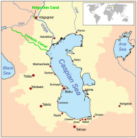 Map showing the approximate route of the Eurasia Canal