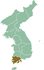 Map of Corea showing South Chella