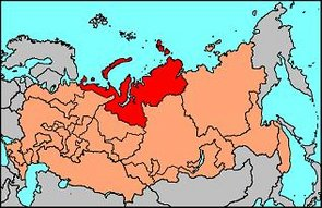 Location of Nenetsia in the Russian Federation